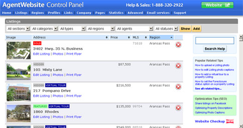 AgentWebsite Control Panel